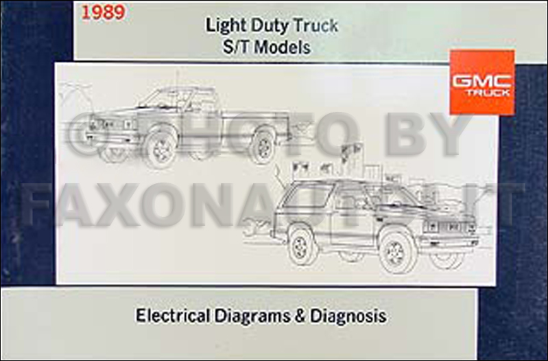 1989 gmc s15 pickup and jimmy wiring diagram manual original rh faxonautoliterature com