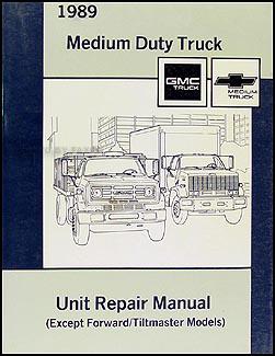 19881989    GMC   Chevy Medium Duty 4000   7000    Repair Shop Manual Original