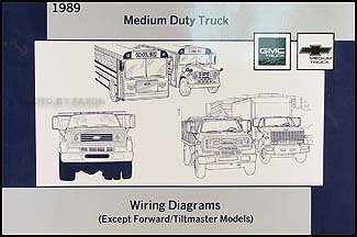 1989 GMCChevy Medium Truck Wiring Diagram Manual Original