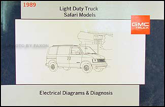 1989 gmc safari van wiring diagram manual original rh faxonautoliterature com