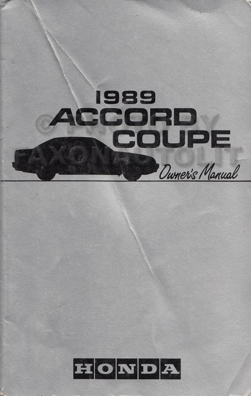 1989 honda accord coupe owner s manual original 2 door dx and lxi rh faxonautoliterature com 89 honda accord owners manual 89 honda accord owners manual