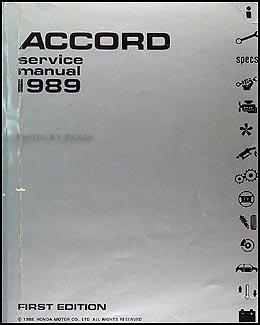 1989 honda accord repair shop manual original rh faxonautoliterature com 1989 Honda Accord Coupe 1989 Honda Accord Coupe