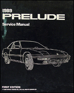 1989 Honda Prelude Repair Manual
