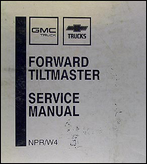 1989 npr & w4 truck repair shop manual original binder, Wiring diagram