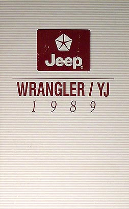1989 jeep wrangler yj owner s manual original rh faxonautoliterature com 1994 jeep yj owners manual 1990 jeep yj owners manual