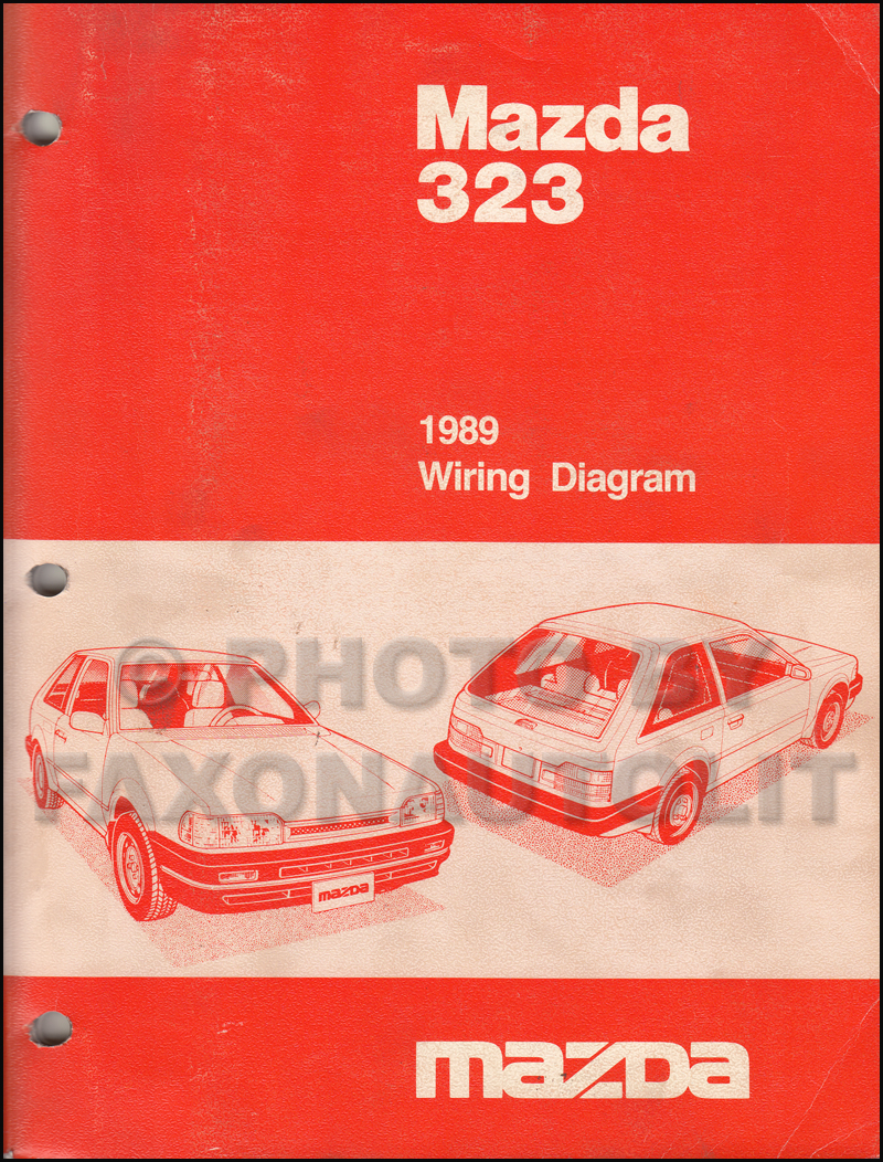 1989 Mazda 323 Repair Shop Manual Original