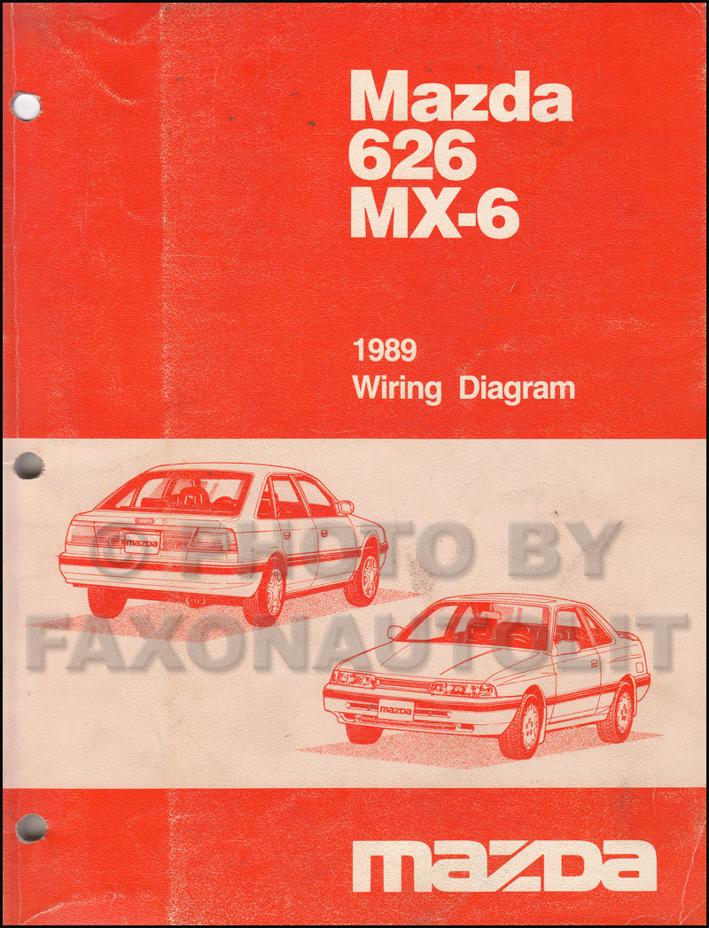 1989 Mazda 626 And Mx 6 Wiring Diagram Manual Original Electrical