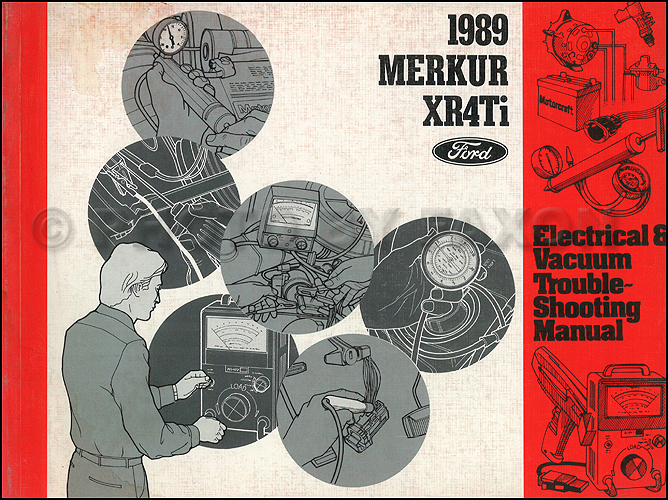 1989 merkur xr4ti electrical troubleshooting manual 89 evtm original ebay