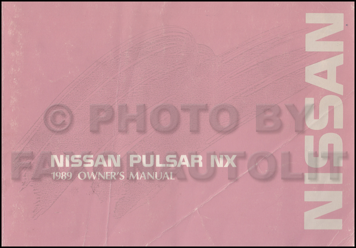 1989 Nissan Pulsar Nx Wiring Diagram Manual Original