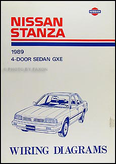 1989 Nissan Stanza Wiring Diagram Manual Original