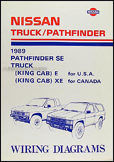 1989 Nissan Truck And Pathfinder Wiring Diagram Manual Original 240sx D21