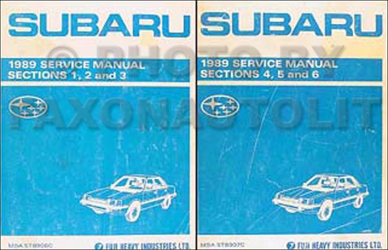 1989 Subaru Dl And Gl Repair Shop Service Manual Set Of 2