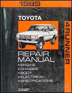 1989 toyota 4runner repair shop manual original rh faxonautoliterature com 1998 toyota 4runner shop manual toyota 4runner factory service manual