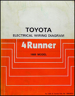 1989 toyota 4runner wiring diagram manual original rh faxonautoliterature com 1989 toyota camry wiring diagram 89 toyota camry wiring diagram