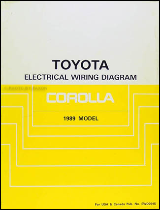 1989 toyota corolla wiring diagram manual original rh faxonautoliterature com 1989 toyota pickup headlight wiring diagram wiring diagram for 1989 toyota mr2
