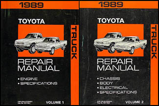1989ToyotaTruckORMSet 1989 toyota pickup truck repair shop manual original set 1989 toyota pickup wiring diagram at eliteediting.co