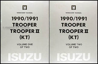 1990 1991 isuzu trooper and trooper ii repair shop manual factory rh faxonautoliterature com 95 Isuzu Trooper Engine Diagram 1991 isuzu trooper stereo wiring diagram