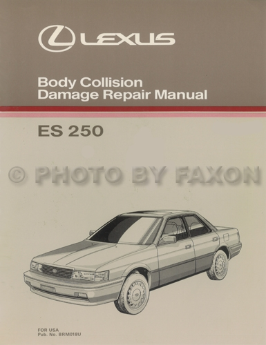 1991 Lexus ES 250 Repair Shop Manual Original Lexus