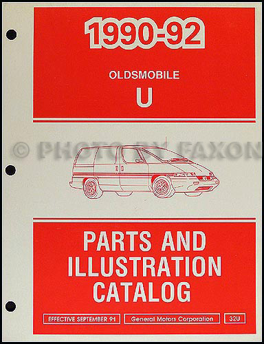 1990-92 Oldsmobile Silhouette Parts Book Original