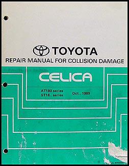 1990-1993 Toyota Celica Body Collision Repair Manual Original