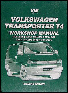 1990 1995 vw transporter eurovan bus repair shop manual