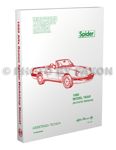1990 Alfa Romeo Spider Repair Shop Manual Graduate Veloce