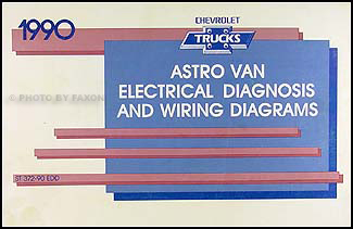 1990 Chevy Astro Van Wiring Diagram Manual Original