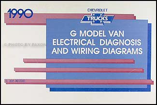 1990 Chevy G Van Wiring Diagram Manual Original