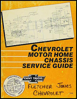 1990 Chevrolet Motor Home Repair Manual Original