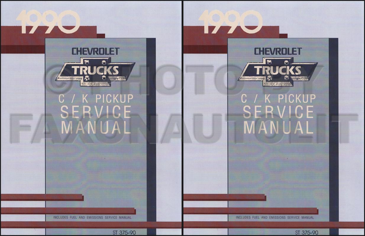 1990 Chevy Truck Repair Shop Manual Original Pickup Blazer