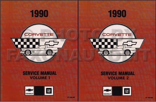 1990 corvette repair shop manual reprint 2 volume set rh faxonautoliterature com 1989 corvette repair manual 1989 corvette factory service manual