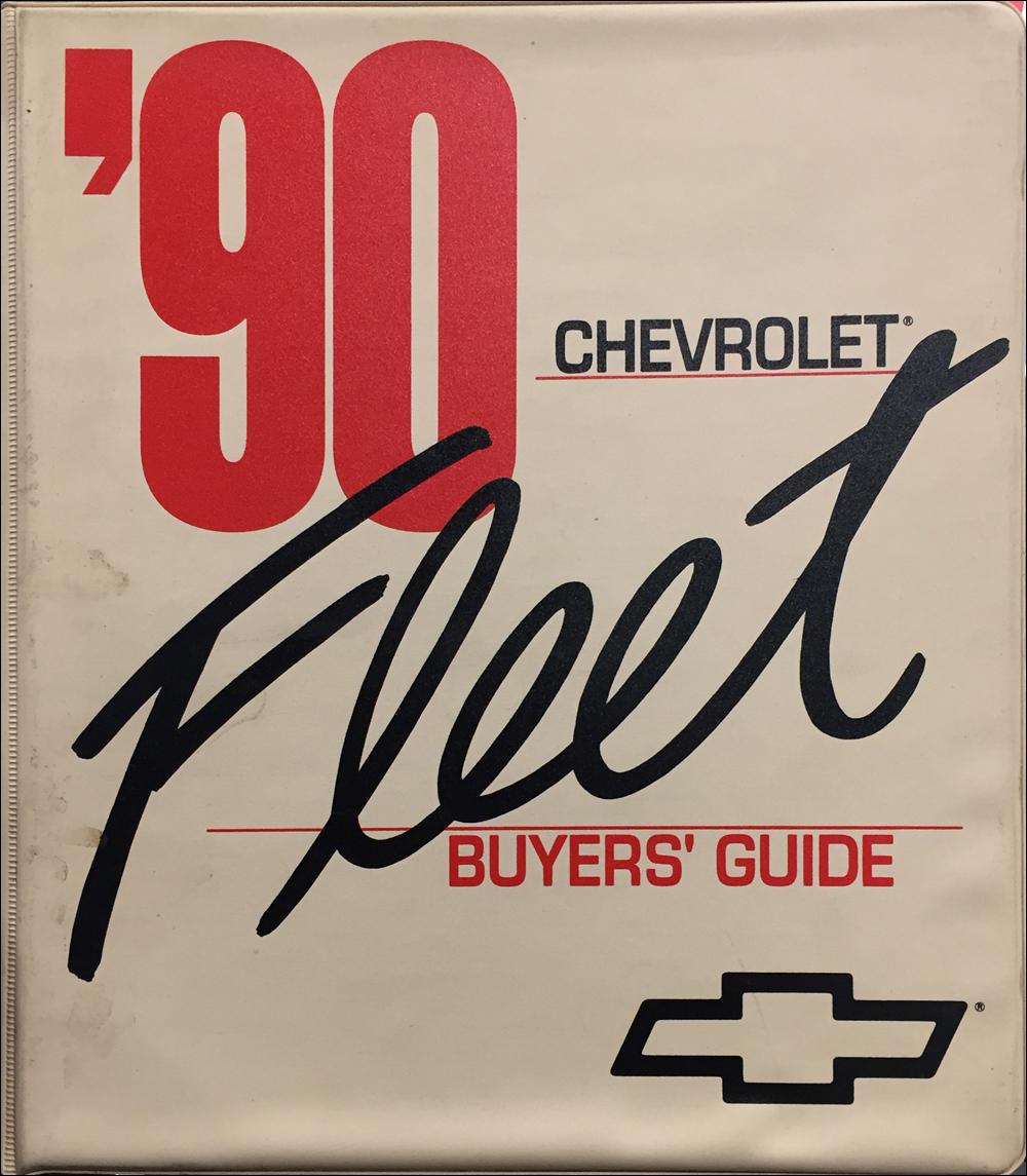 1990 Chevrolet Fleet Buyer's Guide Dealer Album Original