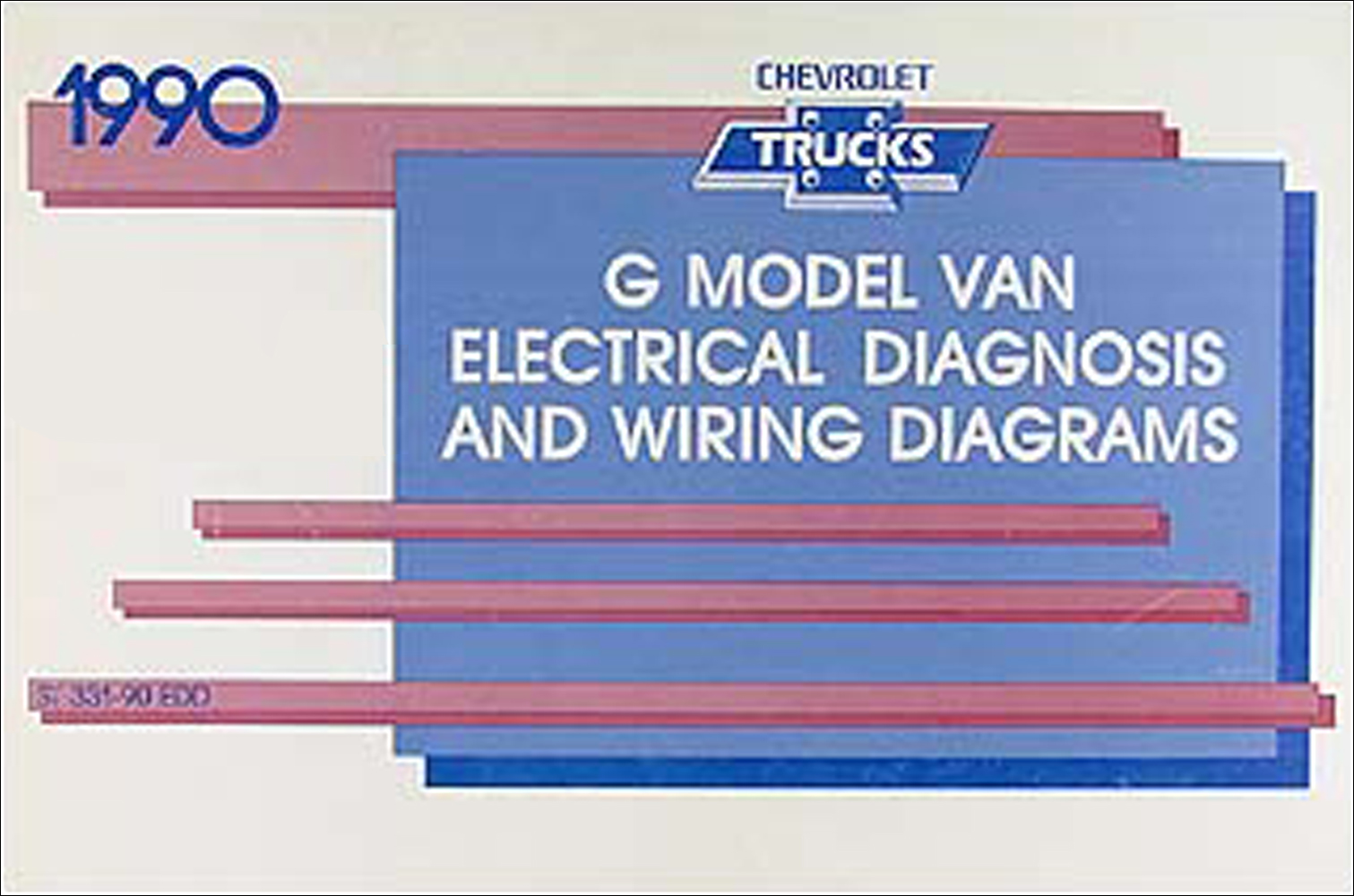 1990 chevy g van wiring diagram manual original rh faxonautoliterature com