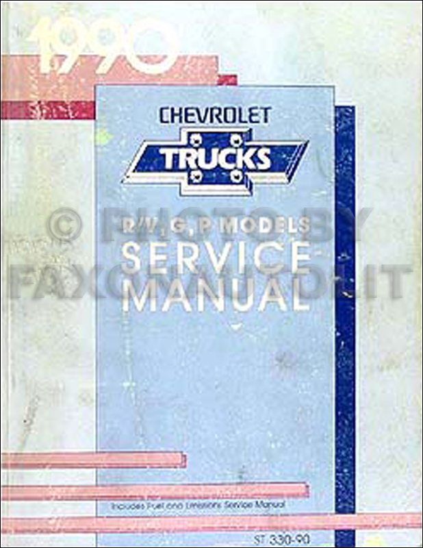 1990 Chevy Truck Repair Shop Manual Original Pickup Blazer Suburban Van FC