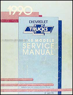 1990 Chevrolet S-10 Pickup & Blazer Shop Manual Original