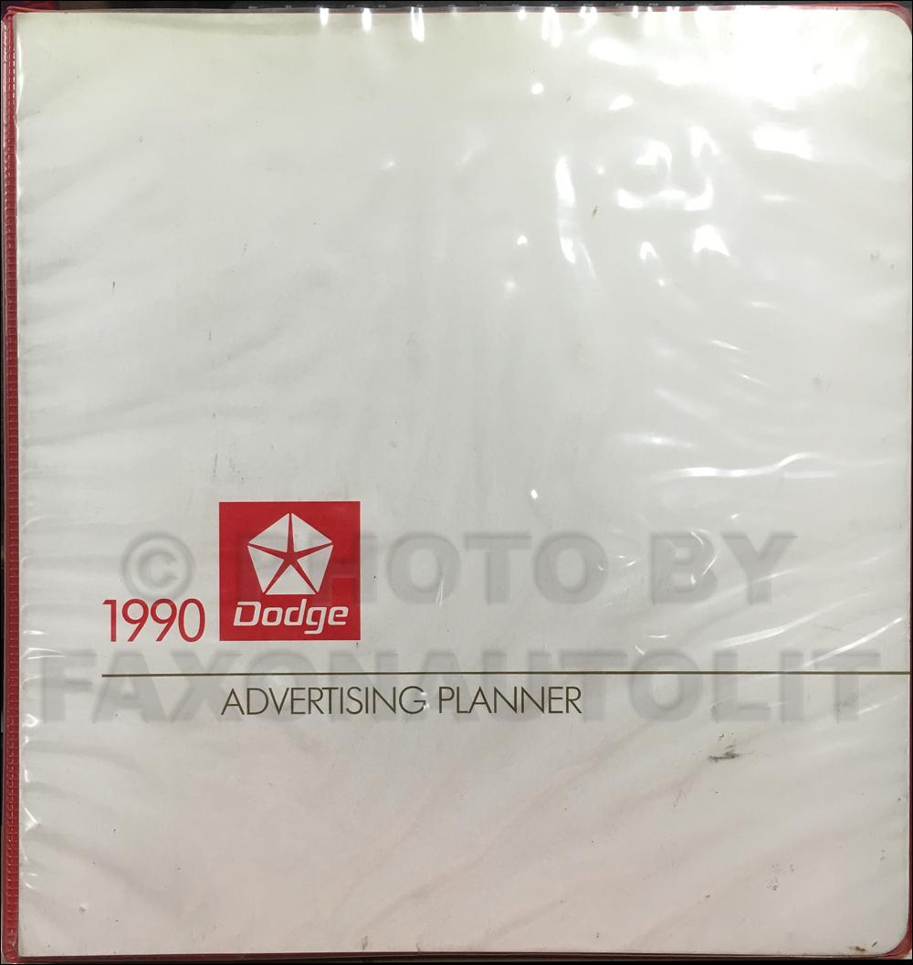 1990 dodge ram van wagon repair shop manual original b100 b350 1990 dodge dealer advertising planner original