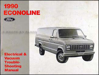 1990EconolineEVTM 1990 ford econoline foldout wiring diagram van e150 e250 e350 club Ford E-350 Fuse Box Diagram at n-0.co