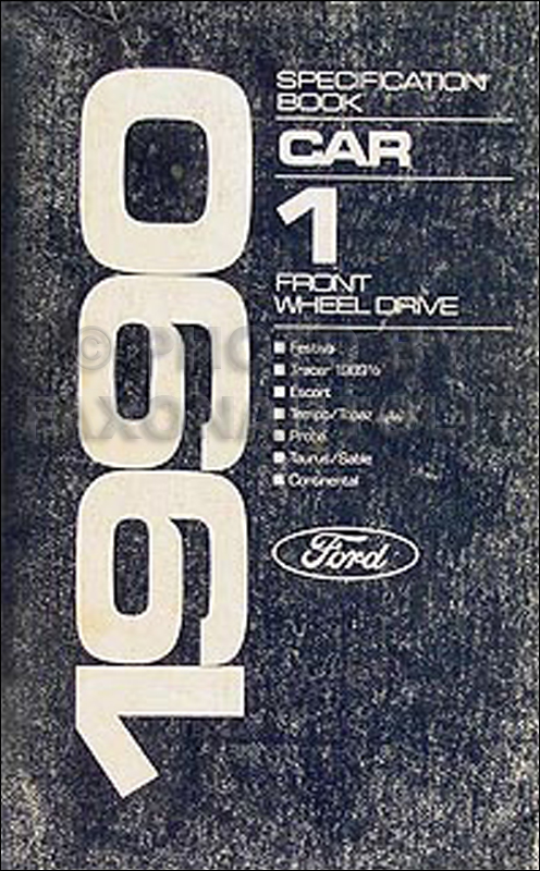 1990 ford festiva foldout wiring diagram original 1990 ford lincoln mercury fwd car service specifications book original