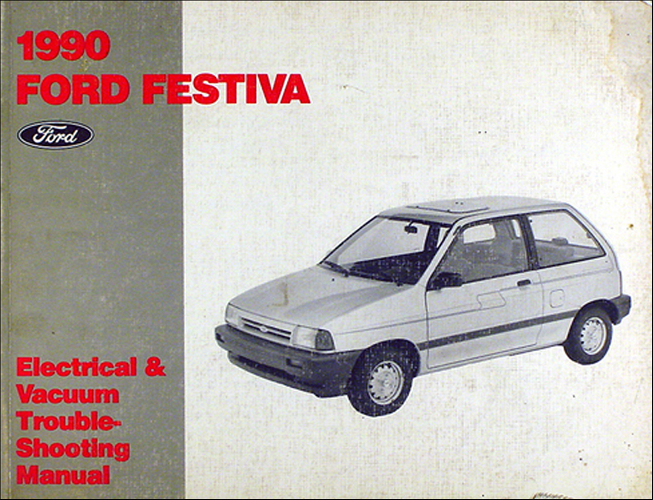 1990 Ford Festiva Foldout Wiring Diagram Original