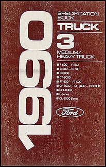 1990 ford truck cab foldout wiring diagram f600 f700 f800 ft800 1990 ford medium and heavy duty truck service specifications book