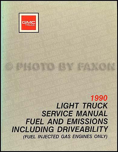 1990 Gmc C  K Sierra Pickup Repair Shop Manual Original 1500  2500  3500 Truck
