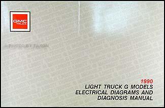 1990 gmc g van vandura wiring diagram manual original 2001 GMC Sierra Wiring Diagrams