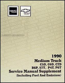1990 gmc chev medium duty 5000 7000 repair shop manual original