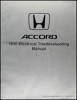 1990 Honda Accord Electrical Troubleshooting Manual Original