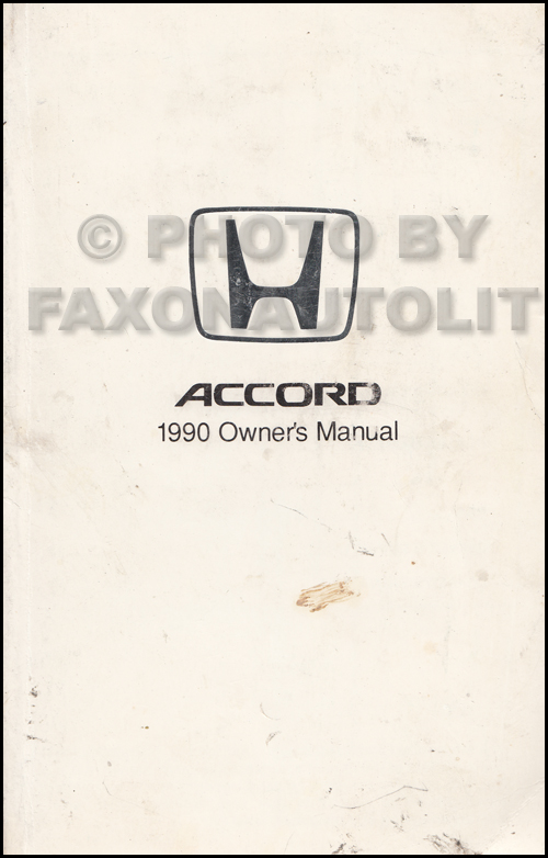 1990 honda accord 4 door sedan owner s manual original rh faxonautoliterature com 1990 honda civic owners manual pdf honda accord 1990 service manual