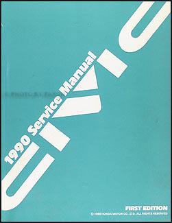 1990 Honda Civic Repair Manual Original