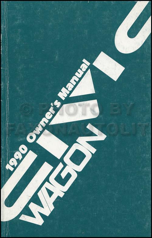 1990 Honda Civic 4WD Wagon Owner's Manual Original