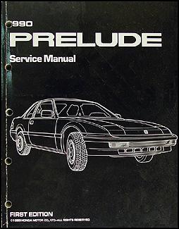 1990 honda prelude repair shop manual original rh faxonautoliterature com 1991 Honda Prelude 1990 honda prelude service manual
