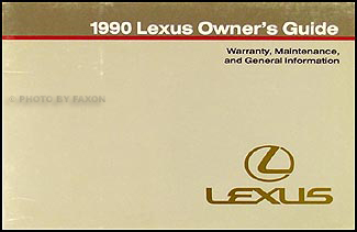 1990 Lexus Warranty, Maintenance Record, and General Information
