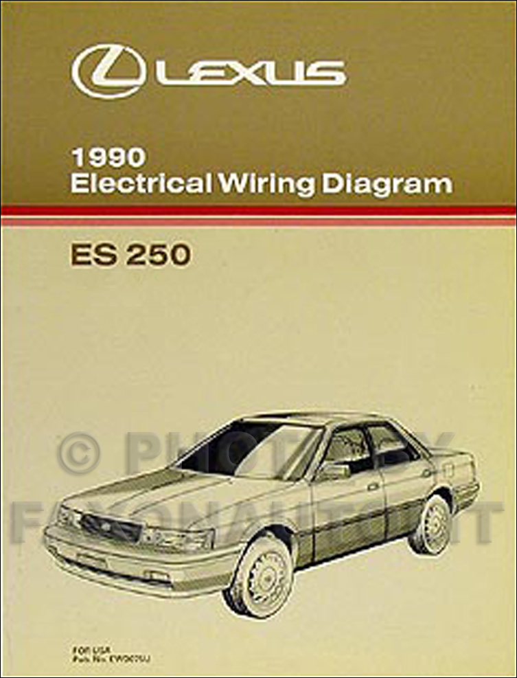 1990 Lexus ES 250 Wiring Diagram Manual Original